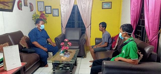 pelaksanaan asimilasi 9 Narapidana dari Lembaga Permasyarakatan TebingTinggi di Wilayah Hukum Polsek Teluk Mengkudu selama dua hari mulai tanggal 13 s/d 14 April 2020