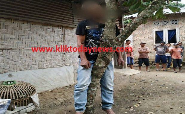 Asrianto (50) Ditemukan Tewas Tergantung di Pohon Mangga