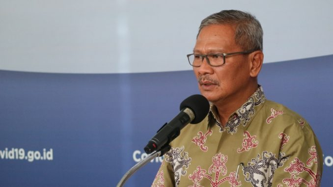 Foto : Juru Bicara Pemerintah terkait Penanganan Covid-19 Achmad Yurianto. (Humas BNPB/Dume Harjuti Sinaga)