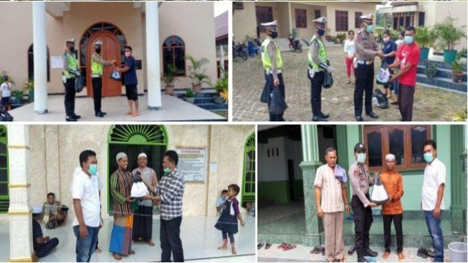 Peduli Tempat Ibadah, Polres Tobasa Beri Bantuan Paket Sembako Kepada Pengurus Rumah Ibadah
