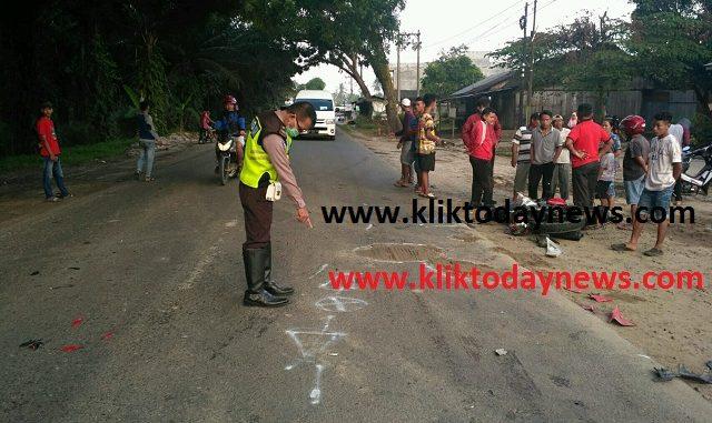lokasi kejadian di jalan lintas Km 4-4.5 Perdagangan - Lima Puluh Batubara