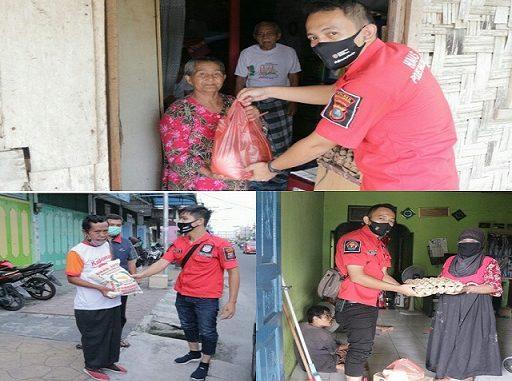Subbag Humas Polres Simalungun Berbagi Kasih di wilayah Kecamatan Gunung Malela, Rabu, (29/04/2020)