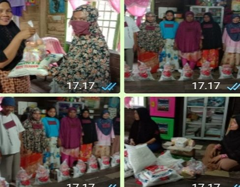Bantuan Sembako Tersebut Secara Langsung Diserahkan di Rumah Kediamannya, pada hari Sabtu tanggal 17/4/2020 sekira 18:10 wib lalu.
