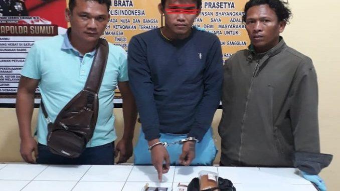 Anthon (25) Ditangkap Di Depan Indomaret Saribu Dolok