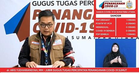 Juru Bicara Gugus Tugas Percepatan Penanganan (GTPP) Covid-19 Sumatera Utara, dr Aris Yudhariansyah
