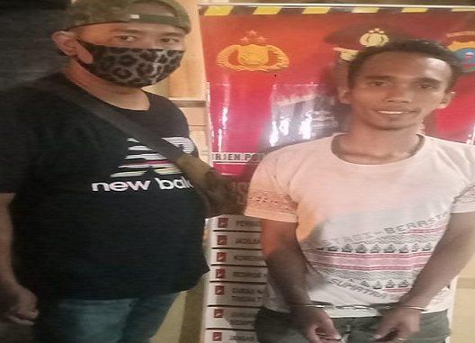 Dian Dabo, (24) ditangkap Team Khusus Anti Bandit(Tekab) Polsek Perbaungan dalam kasus yang sama yakni dalam kasus pencurian liur sarang burung walet, Rabu (6/5/2020) sekira pukul 22:00WIB