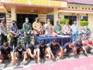 Kapolres Tanjungbalai AKBP Putu Yudha Prawira. S,I,K. MH, Pimpin Konferensi Pers, Jumat, (15/05/2020)