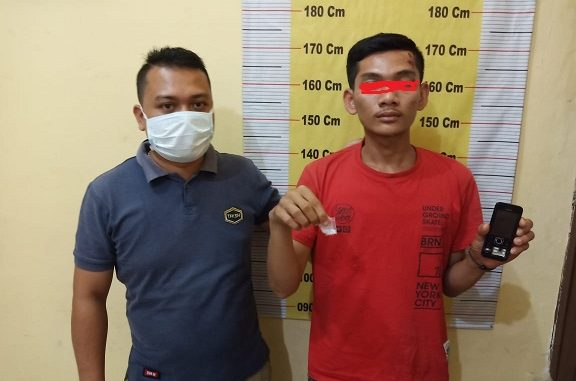 Raehan (23) Ditangkap pada hari Sabtu malam (9/5/2020) sekira pukul 23:40 WIB, tepatnya di areal SPBU Dolok Masihul.