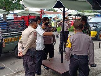 Himbauan dilakukan langsung oleh Kapolresta Mataram, Kombes Pol Guntur Herditrianto bersama Dandim 1606 Lombok Barat, Kolonel Czi Efrijon Kroll. Himbauan diberikan ditiga pasar tradisional.
