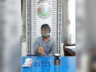 Tim Opsnal Sat res Narkoba Polres Pematang Siantar berhasil meringkus Frengki (21)