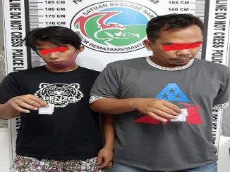 2 pelaku penyalahguna narkotika, ISMAIL (29) dan BUDI (32) warga gang Kinantan, Selasa (26/5/2020) sekitar pukul 11.35 Wib.