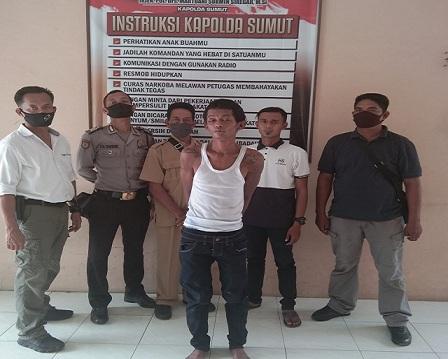Ardi Winata(29) ditangkap Team Khusus Anti Bandit (Tekab) Polsek Dolok Masihul
