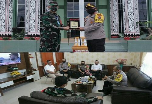Kapolres Simalungun Bersama PJU Silahturahmi Ke Forkopimda Simalungun , Rabu (27/5/2020)