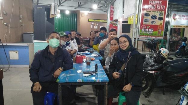 Rapat Perkumpulan Wartawan Online Inependen (PWOIN) Kota Depok bertempat di Kedai Pondok Ngopi Samping BNI jalan Margonda, Sabtu (27/6/2020)
