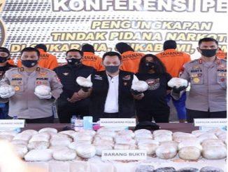 Konferensi pres penungkapan kasus 402 Kg Sabu