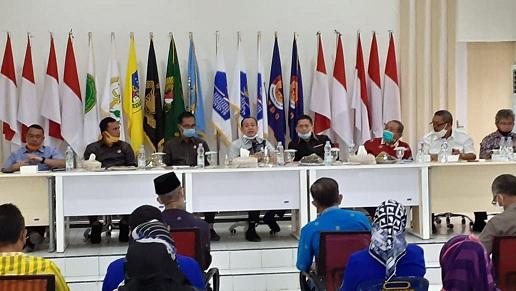 Tim Panitia Khusus (Pansus) Covid-19 DPRD Provinsi Sumatera Utara, melakukan Kunjungan Kerja (Kunker) ke Gugus Tugas Percepatan Penanganan (GTPP) Covid-19 Kabupaten Batu Bara, Kamis (2/7/2020).