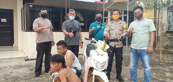 unit Reskrim Polsek Sungkai Selatan berhasil menangkap dua orang yang juga pelaku Curatmor, Sabtu (11/8/2020).