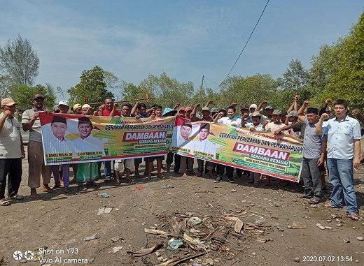 Ratusan nelayan tradisional Kecamatan Pantai Cermin, Kabupaten Serdang Bedagai siap mendukung gerakan Perubahan dan Pembangunan bersama DAMBAAN (Darma Wijaya- Adlin Tambunan) di Pilkada 2020.