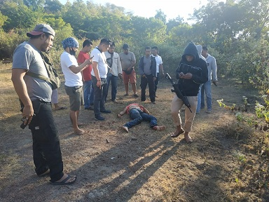 Syamsul Hidayat alias Bim dilumpuhkan petugas karena sempat melawan saat hendak ditangkap
