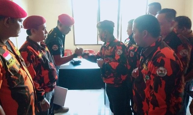 Ketua MPC PP Dzulpansyah, SH, Wakil Ketua MPO, M. Yunus, Wakil Ketua Andrianto, SP, Wakil Ketua Tommy Wijaya, Ketua terpilih KOTI PP Medi Suroso, Wakil Bendahara Syaiful Amri, Ketua Bidang Yusdi, SH