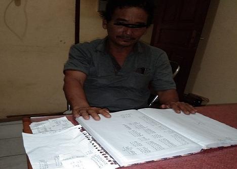 Togap Simamora (53) di ringkus Tim Opsnal Unit Reskrim Polsek Siantar Martoba, Rabu (15/07/2020) Sekira pukul 21.40 WIB.