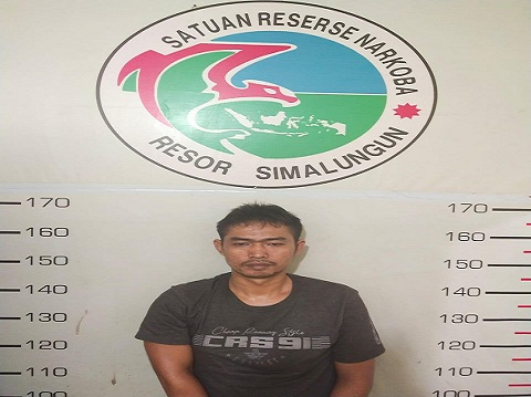 Feri (33) di ringkus Tim Opsnal Satres Narkoba Polres Simalungun, Kamis (02/07/2020) sekira pukul 18.00 WIB