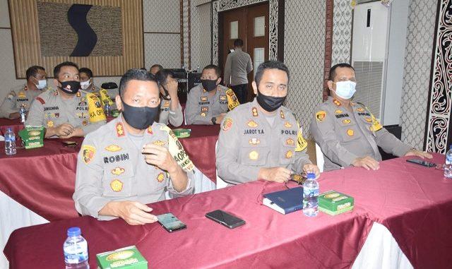 Kapolres Serdang Bedagai AKBP Robin Simatupang,S.H.M.Hum menghadiri penutupan taklimat akhir wasrik rutin Itwasum Polri tahap II T.A 2020 bertempat di Aula Tribrata Mapolda Sumut, Rabu (15/07) Pukul 14.00 Wib.
