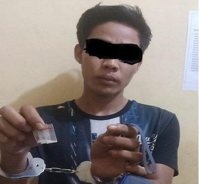 Wandi (23) diciduk Tekab Polsek Pantai Cermin dari kediamannya di Dusun II, Desa Sementara, Kec.Pantai Cermin Kab.Serdang Bedagai, Minggu (12/7/2020) sekira pukul 19.30 WIB.