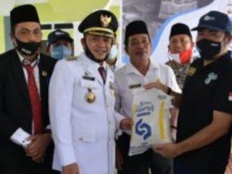 Bupati Batu Bara Ir Zahir MAP kunjungi Kepala Badan Narkotika Nasional Kabupaten (BNNK), di Jalinsum Dusun V Perk Sei Bejangkar Kecamatan Sei Balai, Rabu (01/07/2020).