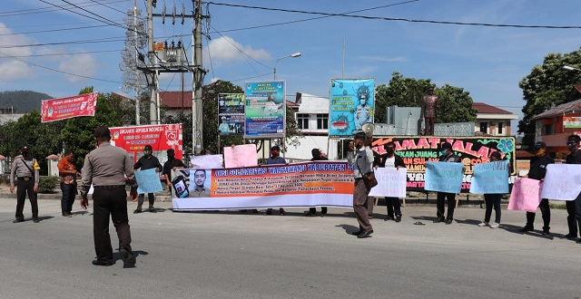 Aksi Solidaritas jurnalis kabupaten Toba, Kamis (27/8/2020), sekira pukul 10.00 Wib