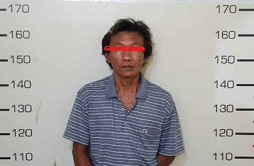 Ali (48) di ringkus Tim Opsnal Satres Narkotika Polres Simalungun, Kamis (27/08/2020) sekira pukul 15.30 WIB