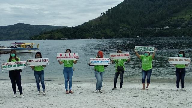 """Kampanye Danau Toba """"BISA"""" Selasa (04/08/2020), sekira Pukul 09.00 Wib."""