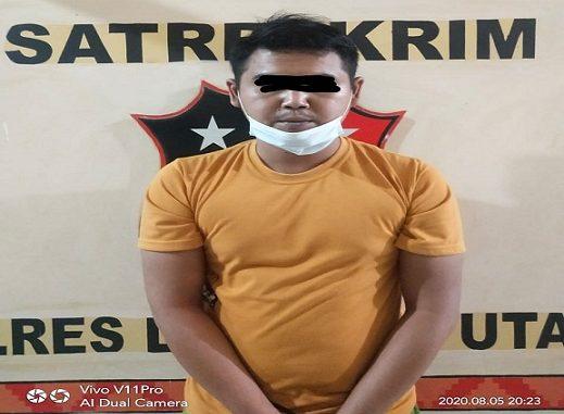 AS (28) warga Tanjung Aman salah satu karyawan PT. LDR dicokok dari persembunyiannya