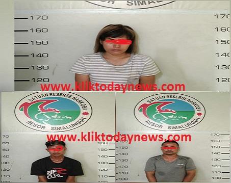 Seorang Wanita dan 2 Pria Berhasil ditangkap bersama puluhan paket Sabu
