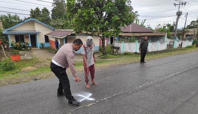 Lokasi kejadian di Km 03-04 Desa Pohan Tonga Kecamatan Siborongborong Kabupaten Tapanuli Utara Provinsi Sumatera Utara, Senin lalu (03/08/2020) sekira pukul 14.15 WIB