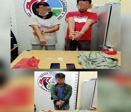 Ketiga terduga tersangka di boyong ke Kantor Satres Narkoba Polres Tobasa.