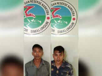 Dua penyalahguna narkotika ditangkap Satnarkoba Polres Simalungun