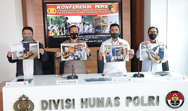 Konferensi pers di Mabes Polri, Jalan Trunojoyo, Jakarta Selatan, Kamis (13/8/2020).