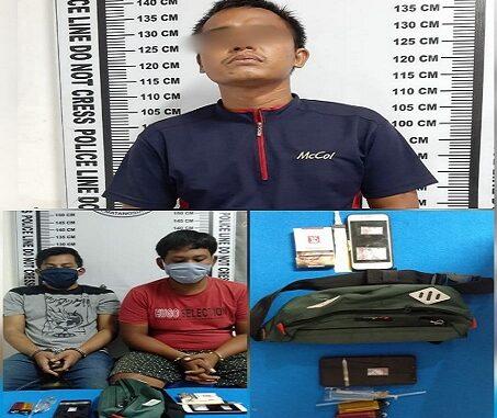 Tiga pelaku penyalahguna narkotika berhasil ditangkap,Senin (10/08/2020)