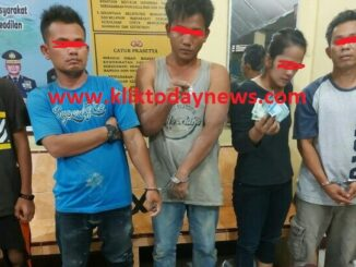 Lima Orang Ditangkap Polsek Serbelawan , Jumat (18/09/2020) sekira pukul 21.00 WIB.