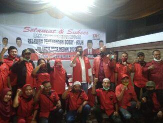Deklarasi Relawan IRC untuk Bobby Nasution-Aulia Rahman di Kompleks River Valley, Jln. Laboratorum , Medan Barat. Senin (14/9/2020)