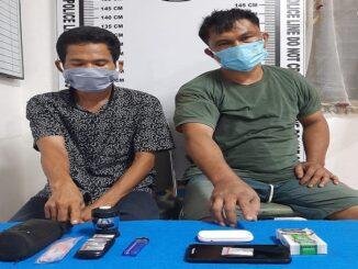 DEDI (47) dan Adha Tanjung (42) di ringkus Tim Opsnal Satres Narkoba Polres Pematang Siantar