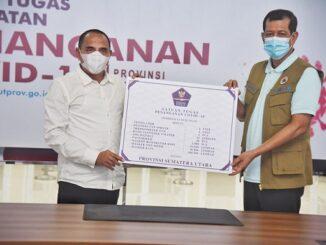 Doni Manardo Bersama Gubernur Sumatera Utara (Sumut) Edy Rahmayadi , Medan, Jumat (25/9)