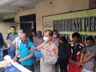Tekab Polsek Sunggal Polrestabes Medan berhasil tangkap komplotan penjahat yang menyaru sebagai polisi yang bertugas di BNN, pada Rabu (09/09/2020).
