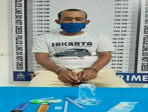 Andi (47) warga jalan Simarjarunjung Kelurahan Karo Kecamatan Siantar Selatan kota Pematang Siantar, terpaksa lhklas tidur di sel Tahanan Satres Narkoba Polres Pematang Siantar.