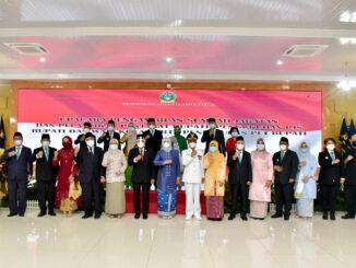 Gubernur Sumatera Utara (Sumut) Edy Rahmayadi melantik 10 Penjabat Sementara (Pjs) Bupati/Walikota di Pendopo Rumah Dinas Gubernur, Jalan Sudirman, Medan, Jumat (25/9).