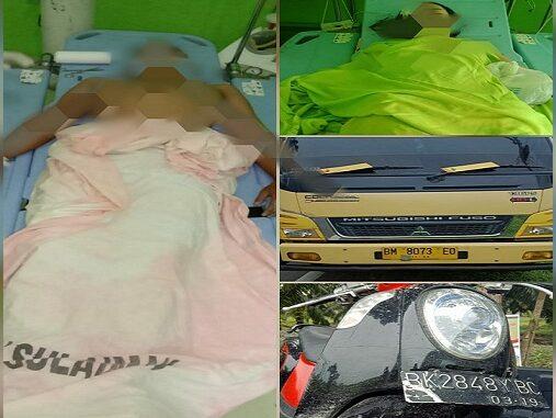 Kecelakaan lalulintas di Jalan Lintas Medan -Tebing Tinggi tepatnya Dsn. I Desa Liberia, Kec. Teluk Mengkudu, Kab. Serdang Bedagai, Jumat (11/9/2020) sekira pukul 16.00 WIB.