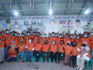 Keluarga besar Ikatan Alumni SMTP Negeri 1 Raya, Kabupaten Simalungun, yang pertemuannya digelar di rumah pribadi RHS, Sabtu (31/10/2020).