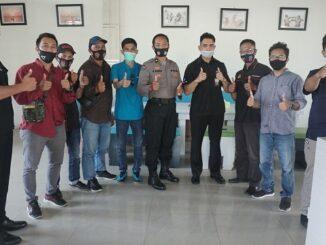 Tim Asistensi Polda NTB juga berkesempatan bersilaturahmi dengan insan pers