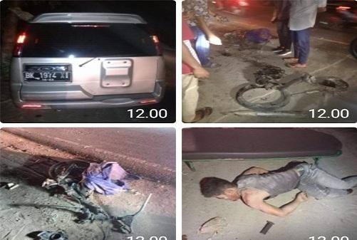 Kecelakaan lalu lintas yang merenggut nyawa di Jalinsum areal kebun PT Moeis, Kecamatan Sei Suka Kabupaten Batu Bara, Senin 19/10/2020 sekitar pukul 22.00 WIB